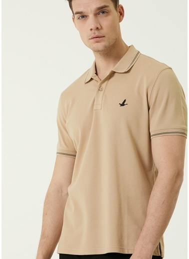 Beymen Club Beymen Club Comfort Fit  Polo Yaka Logolu T-shirt 101589674 Kahve
